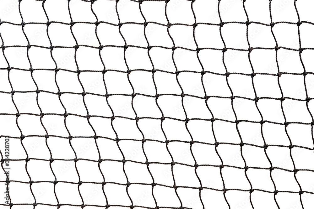 Fototapeta Tennis net isolated on white background with clipping path