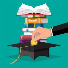 Graduation Cap, Open Book And ...