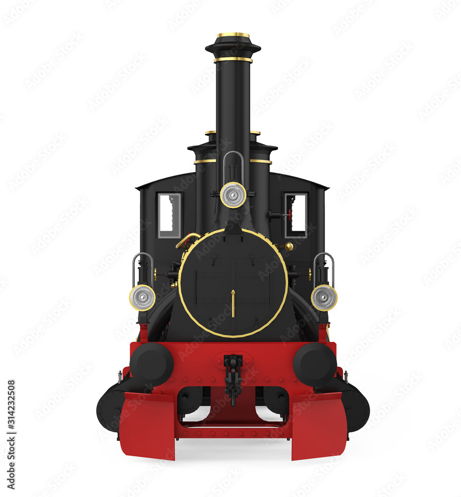 Fototapeta Locomotive Train Isolated