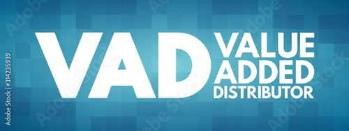 Photo VAD - Value Added Distributor acronym, business concept background