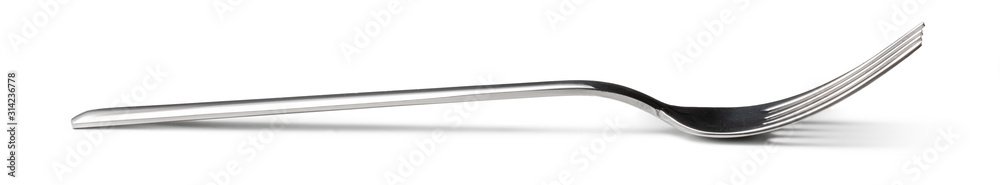 Fototapeta Silver cutlery fork isolated on white background