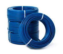 Coils Of Blue Cable Isolated O...