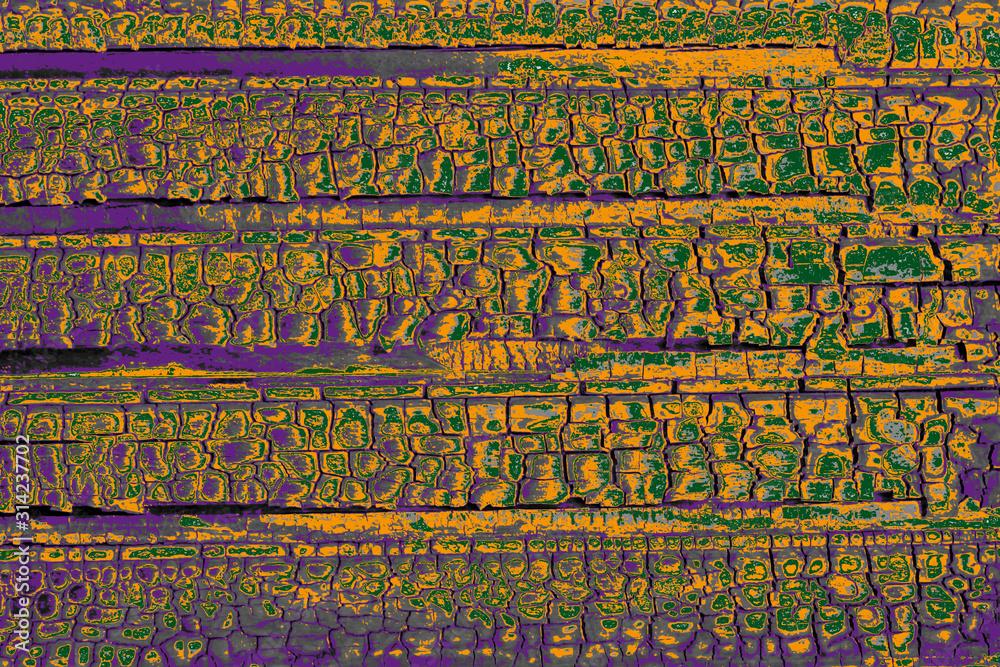 Fototapeta Texture bois calciné peint