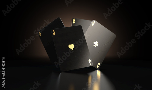 Foto Black Casino Card Aces
