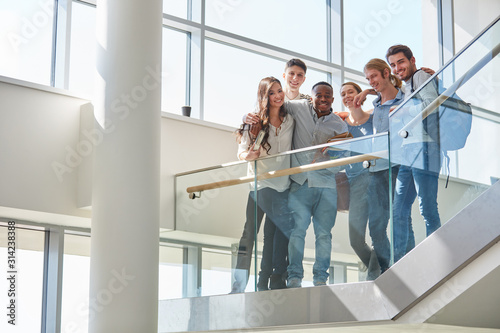 Obraz Students as successful team - fototapety do salonu