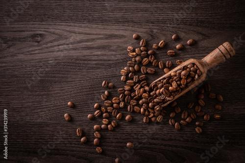 Obraz na plátně コーヒー豆