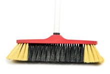 Broom Isolated On The White Ba...