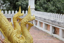 Wat Phra Keo, Buddhist Temple In Vientiane Capital Of Laos.