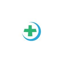 Medical Cross Logo Template Vector Icon Design