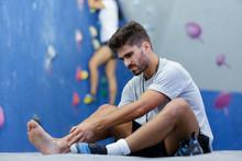 Man In Sprain Injury Pain