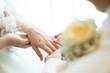 canvas print picture - 指輪の交換,チャペル,リング,花嫁,誓いの言葉,結婚式