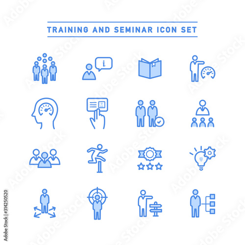 Valokuva TRAINING AND SEMINAR ICON SET