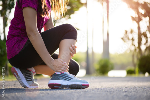 Photo Ankle sprained