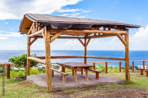 Fototapeta kiosque de pique-nique, île de La Réunion  obraz