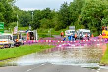 Flood Road In England Blocked ...