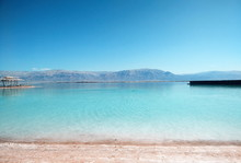 View On The Salty Dead Sea In ...