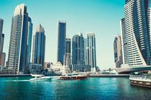 Sunny Day Cityscape Of Dubai M...