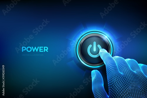 Power button Wallpaper Mural