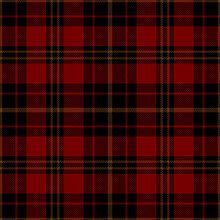 Red, Black And Brown Tartan Plaid. Stylish Textile Pattern.