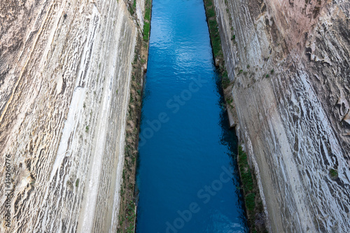 Fotografia, Obraz View of the Corinth Canal in the Isthmus of Corinth, Greece