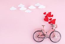 Happy Valentine's Day. Bicycle...