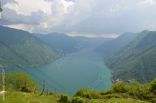 Photo lac de côme depuis pigra