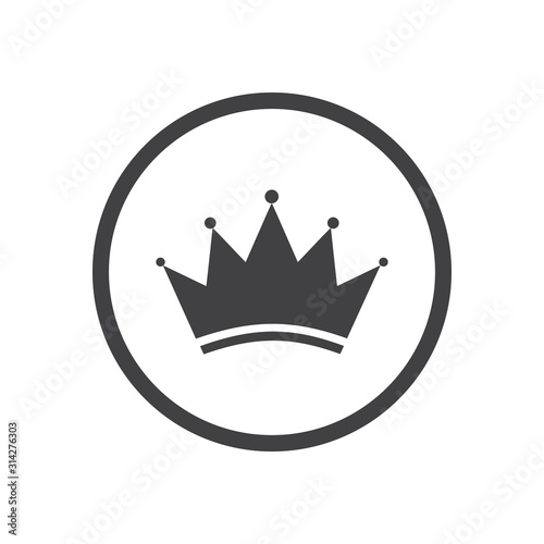 Photo Crown Logo Template Icon. Vector illustration Flat