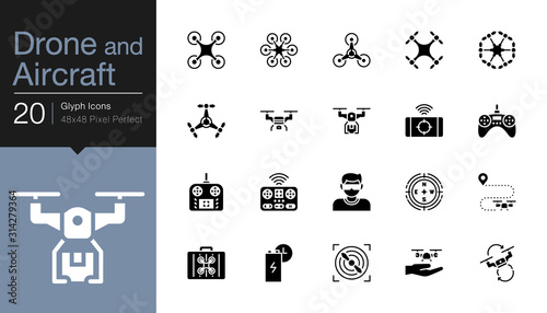Fényképezés Drone, Aircraft and Aerial icons