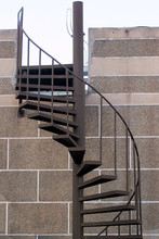Spiral Staircase On A Rooftop