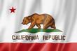 Leinwanddruck Bild - California flag, USA