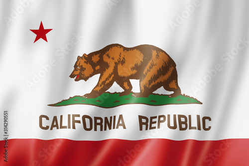 Fotografia, Obraz California flag, USA