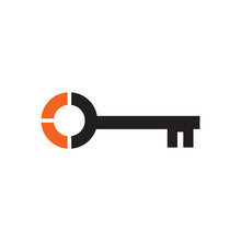 Simple Key Logo Icon Design Ve...