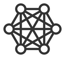 Network Connections Vector Ico...