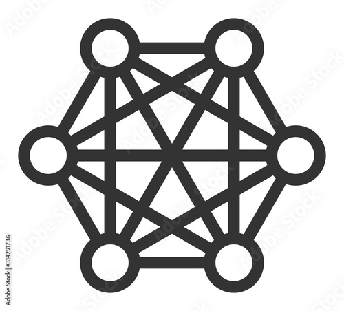 Fotografia Network connections vector icon