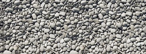 pebbles background. Banner texture Canvas Print