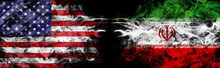 American Flag And Iranian Flag...