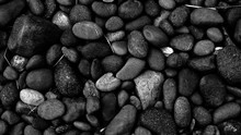 Black Stone Background, Pebble...