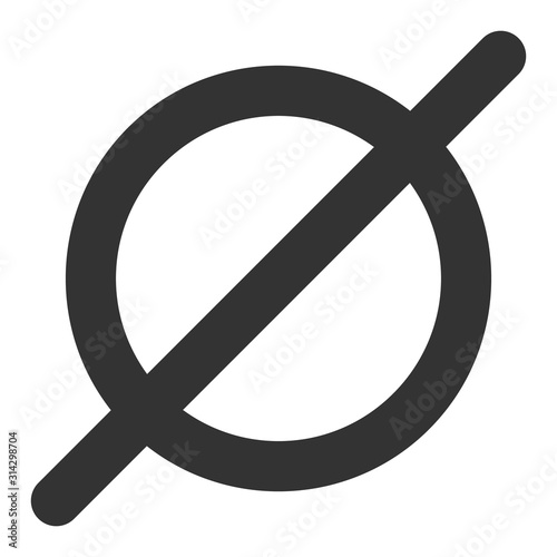 Obraz Nothing vector icon. Flat Nothing pictogram is isolated on a white background. - fototapety do salonu