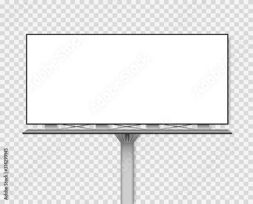 Fotomural  Blank billboard mockup for your advertisement