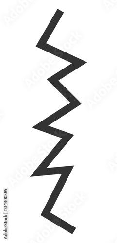 Photo Zigzag line vector icon