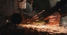 Blacksmith With Angle Grinder ...