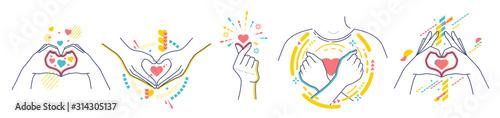 Hands showing gestures I love you Fototapet
