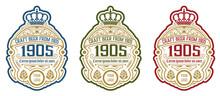 Vintage  Beer Label Design Tem...