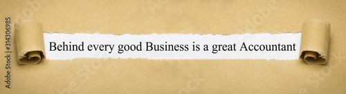 Behind every good Business is a great Accountant Canvas Print