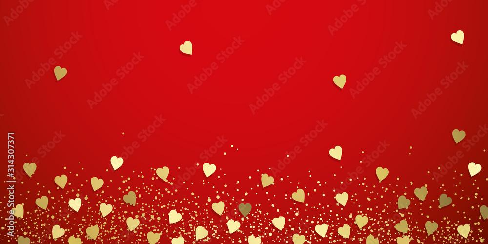 Fototapeta Love hearts background