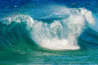 canvas print picture - big wave at the pacific ocean on Oahu, Hawaii