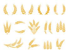 Wheat Wreaths And Grain Spikes...