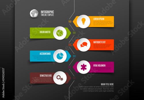 Fototapeta Simple Timeline Layout with Icons obraz
