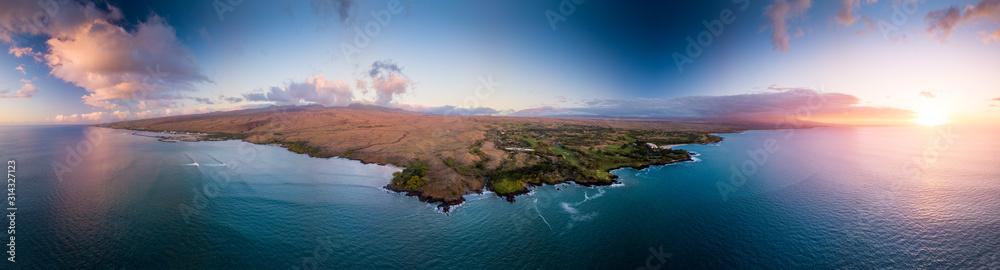 Fototapeta Aerial view of the west coast of the Big Island, Hawaii
