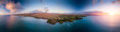 Leinwandbild Motiv Aerial view of the west coast of the Big Island, Hawaii